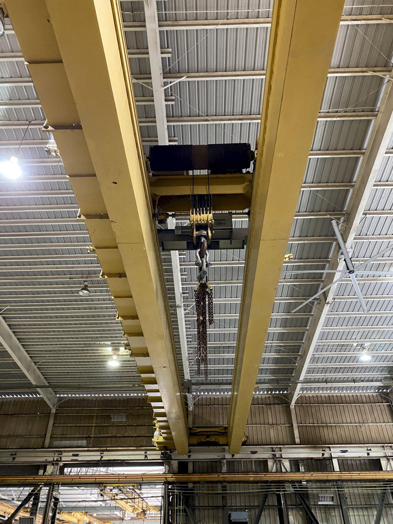 "75 TON X 103'6"" P&H OVERHEAD BRIDGE CRANE WITH 20 TON AUXILIARY. STOCK # 0733320"