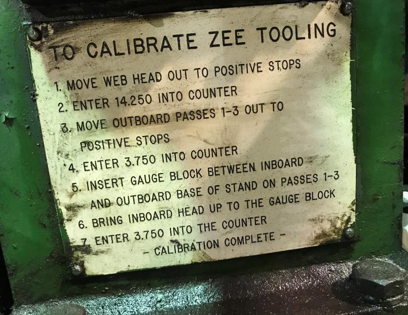 12 Stand Bradbury Side by Side Cee & Zee Rollformer DTR