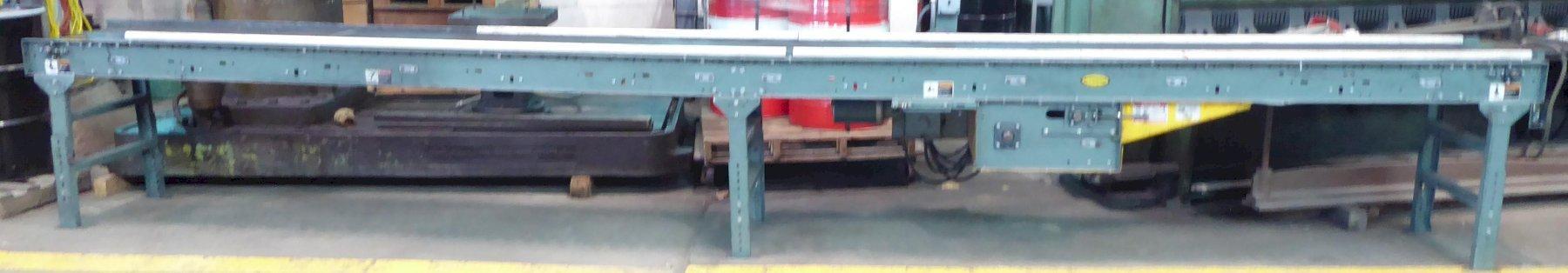 Hytrol Belt Conveyor: 18″W x 20'L, Power, Adjustable Height