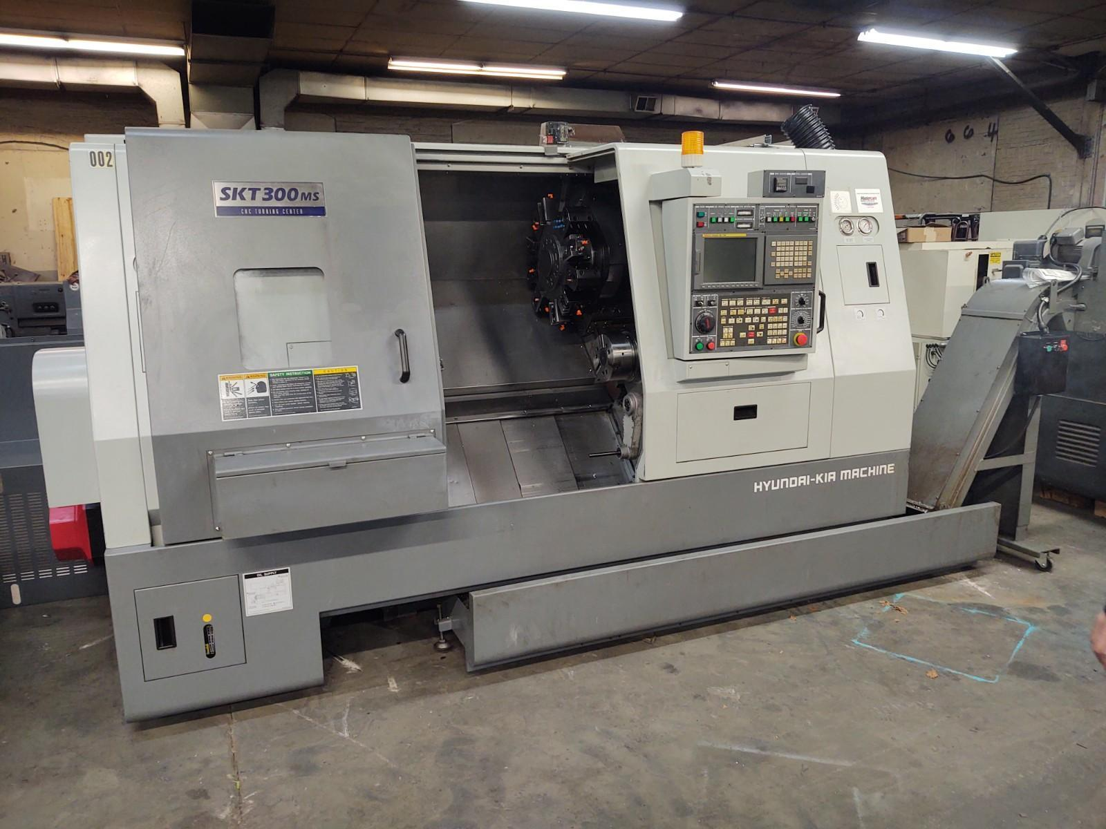 Hyundai Kia SKT300MS CNC Lathe, Fanuc 18iT, 12