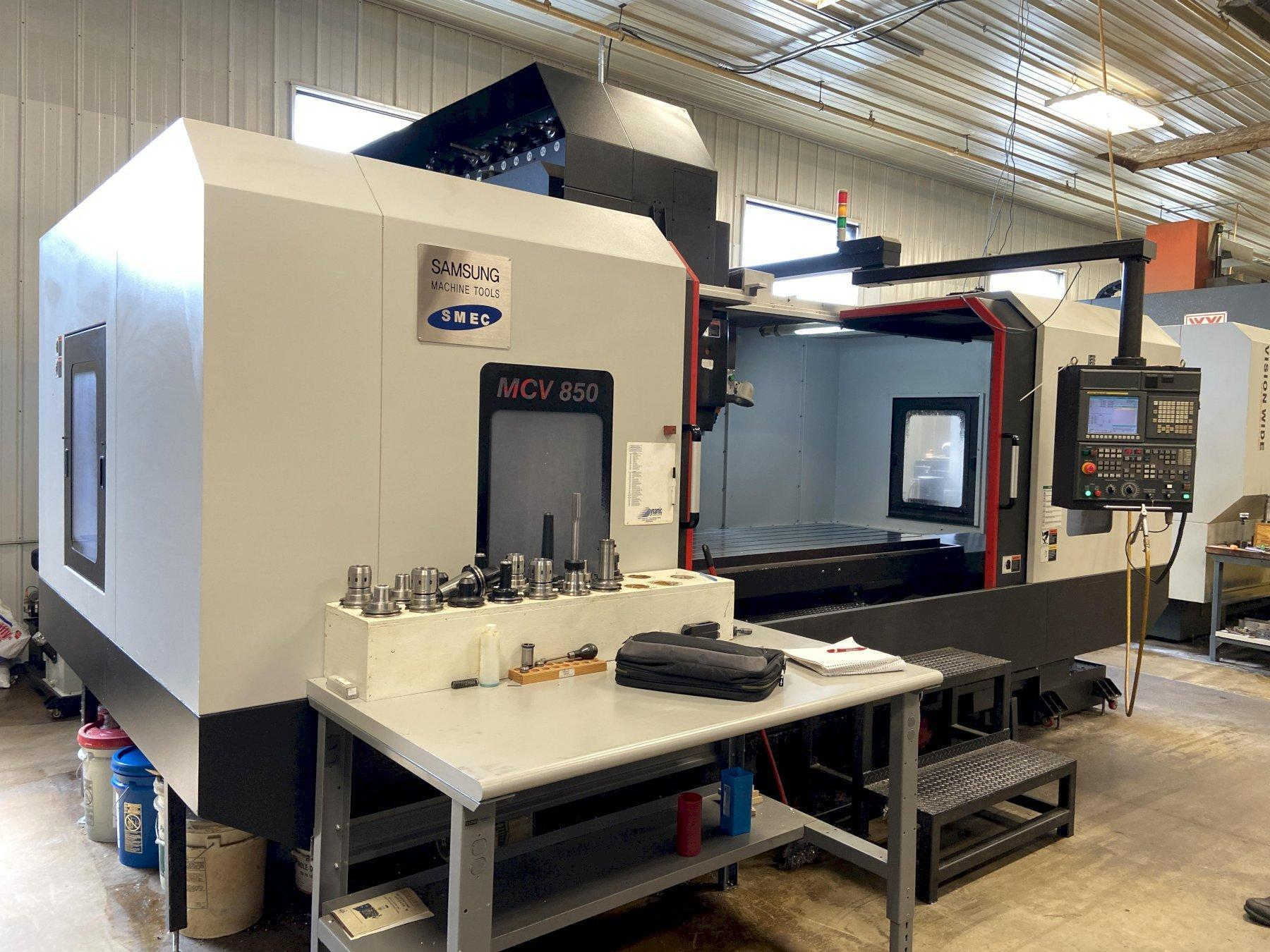 Samsung MCV-850 CNC Vertical Machining Center, Fanuc 0iMD, 79