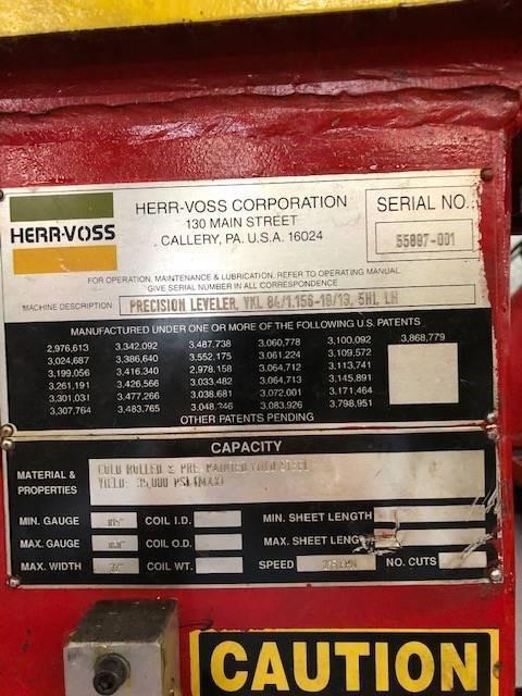 """72"""" x .060"""" 5HI Herr Voss Precision Leveler"""