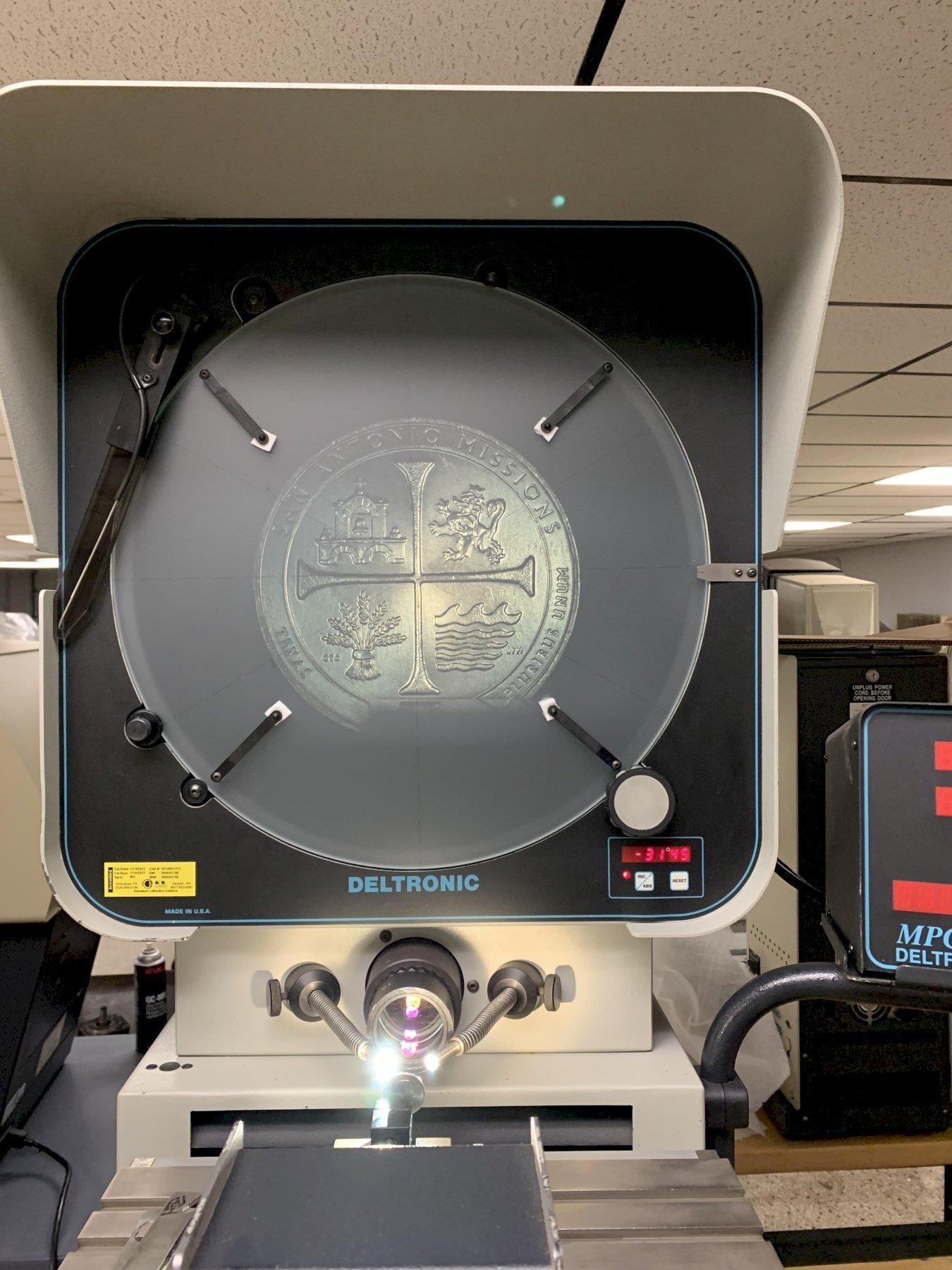 """16"""" Deltronic Model DH216 Bench Top Optical Comparator, S/N 389035768, New 1998."""