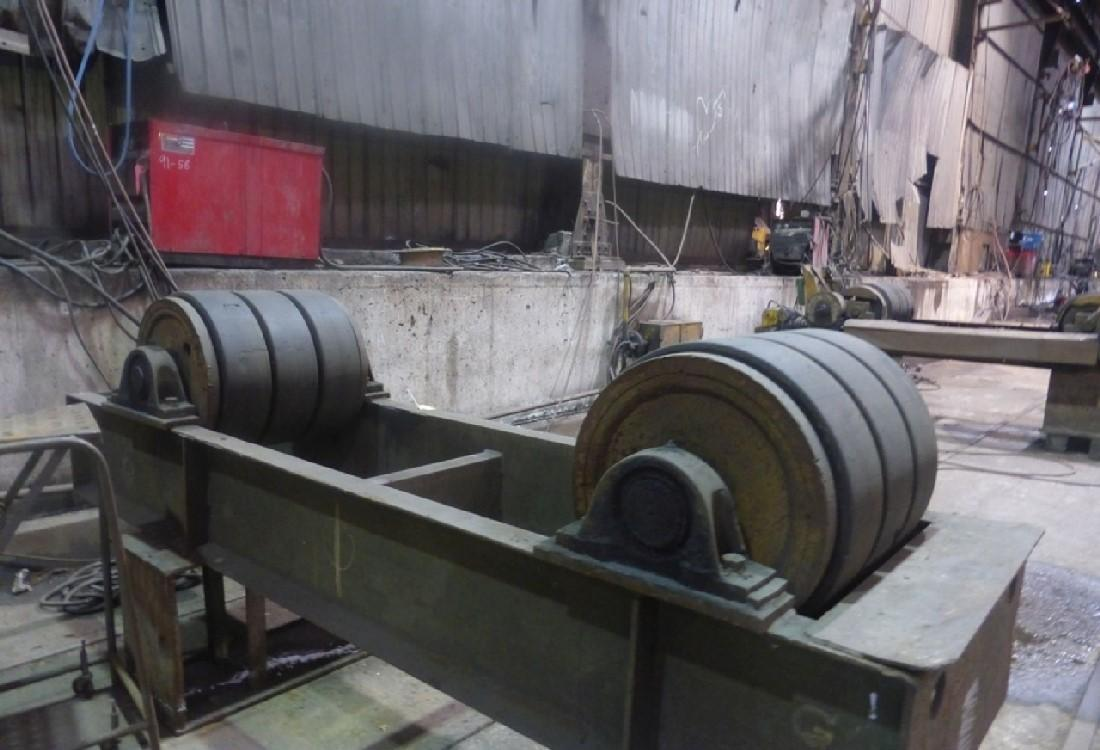 PAIR OF RANSOME TANK TURNING WELDING ROLLS: STOCK 13388