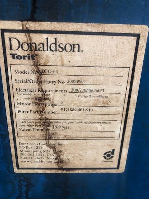 TORIT DONALDSON DUST COLLECTOR