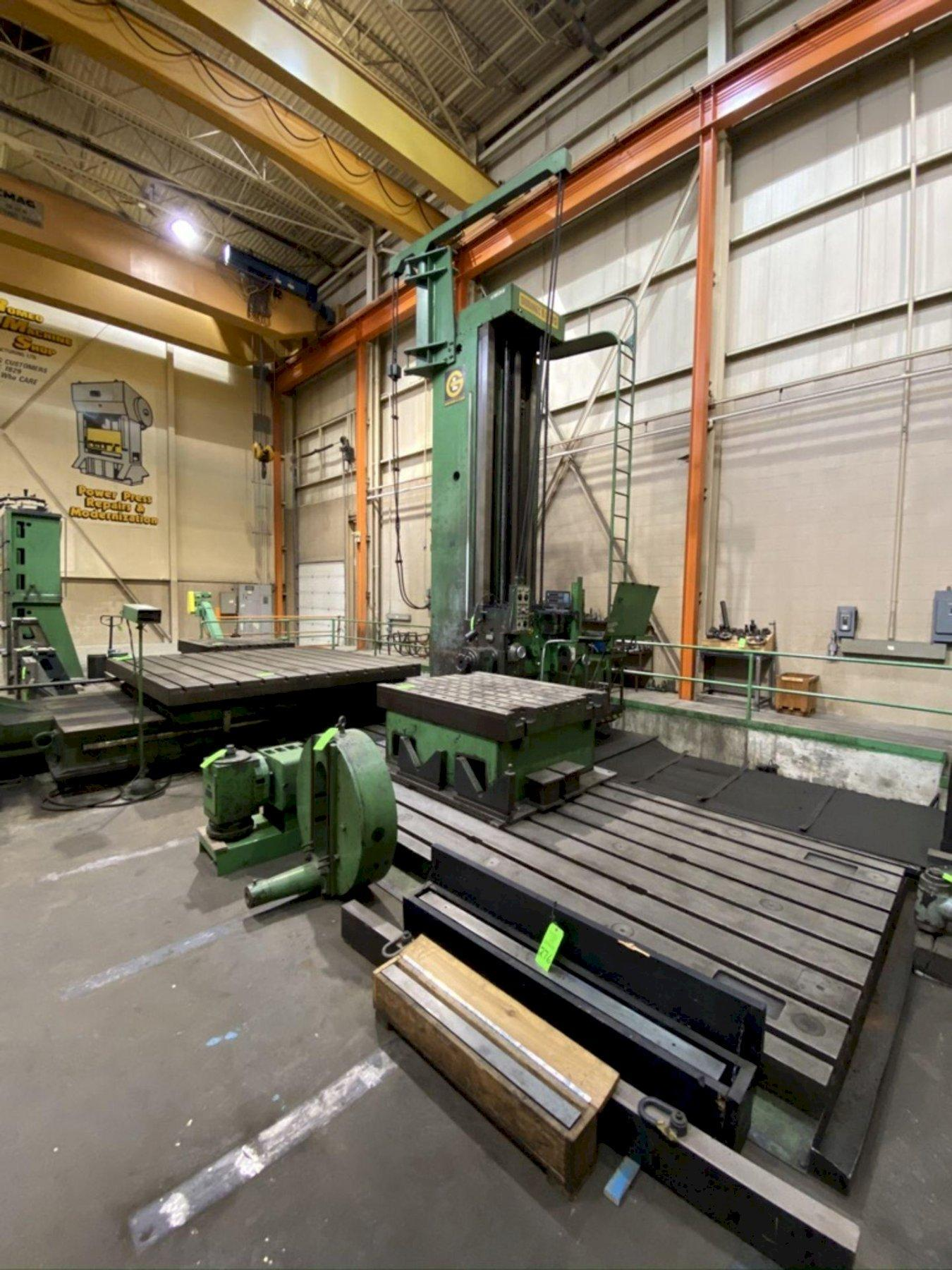 "6"" GIDDINGS & LEWIS FLOOR TYPE BORING MILL, MODEL 70-HS-UF, 134"" Y, 36′ X, 48"" Z, 40′ X 6′-7"" BED PLATES,"