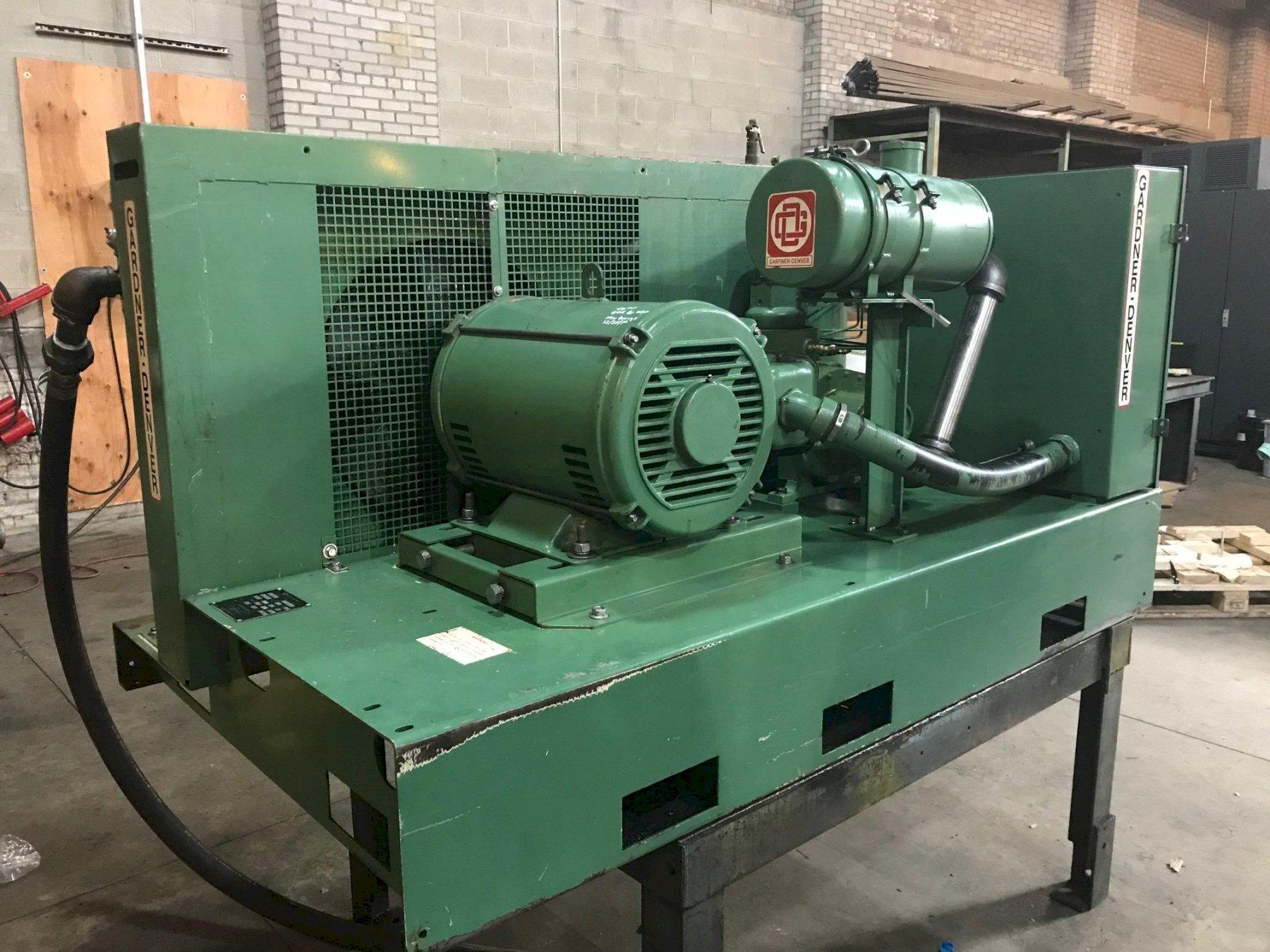 50 Hp Gardner-Denver Rotary Screw base mount air compressor,