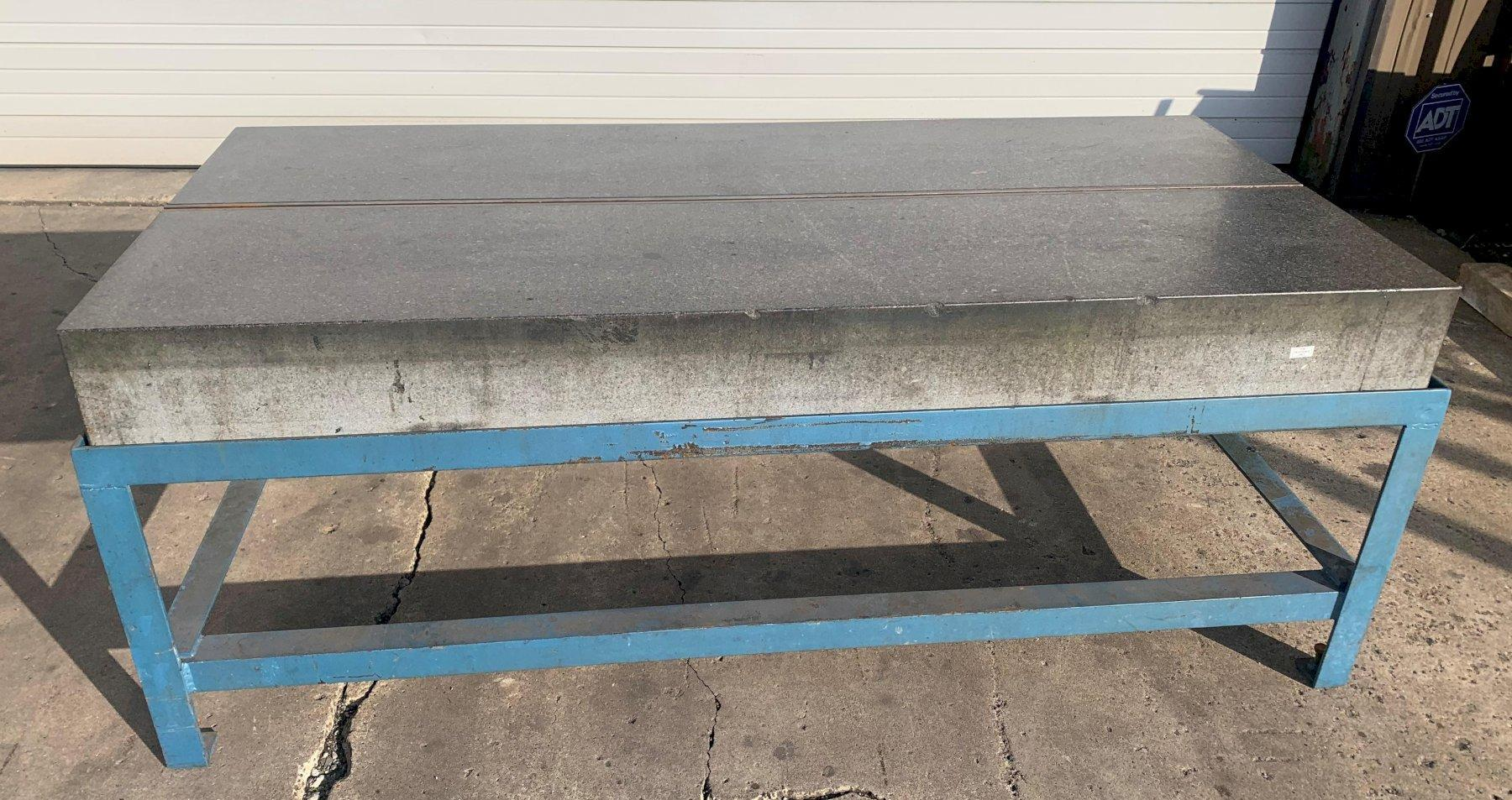 """36"""" X 78"""" X 8"""" THICK RAHN GRANITE PRECISION LAYOUT PLATE ON STAND: STOCK #11475"""