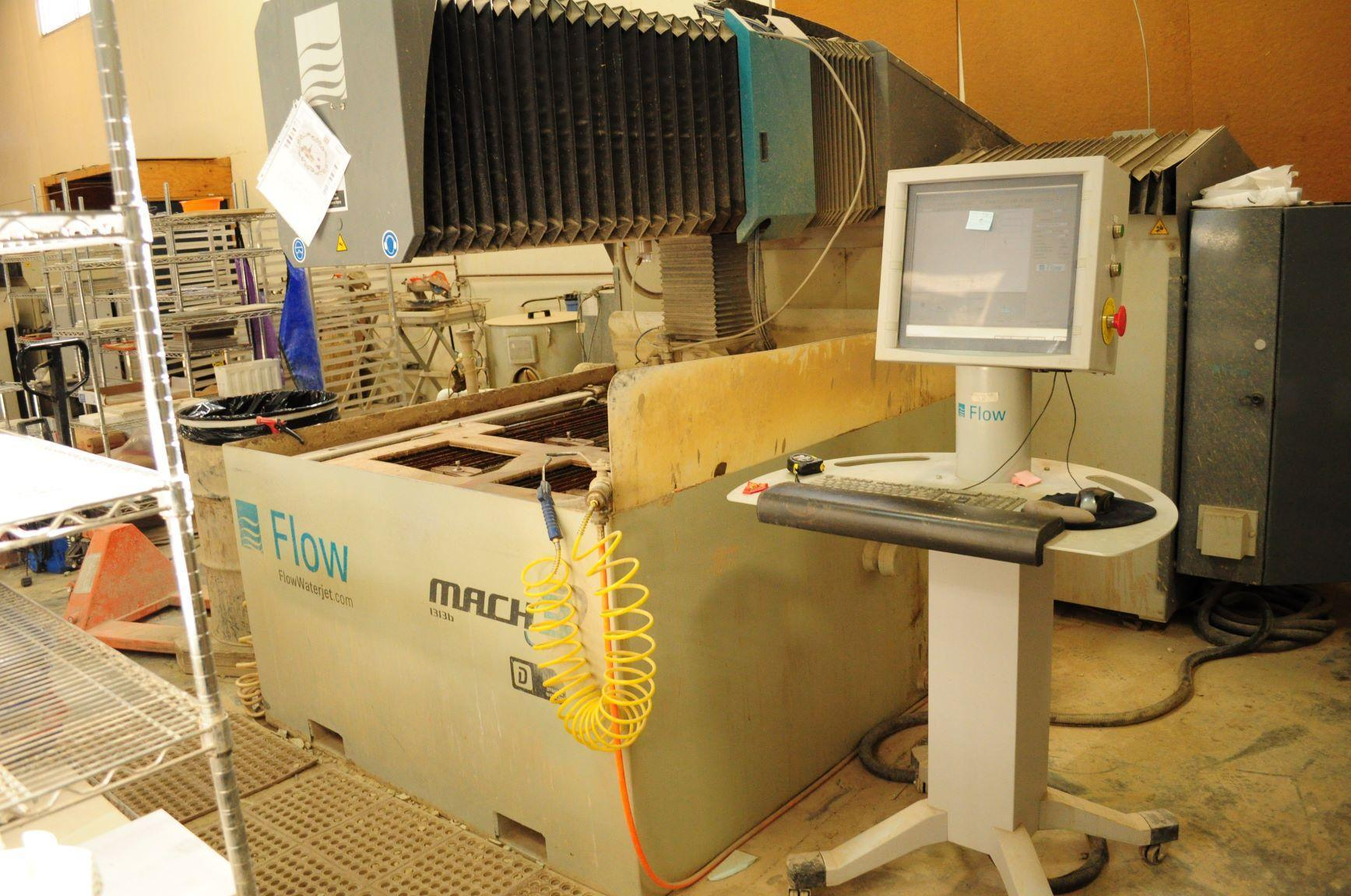 Flow Mach 3 1313b Dynamic CNC Waterjet Cutting System - 2011