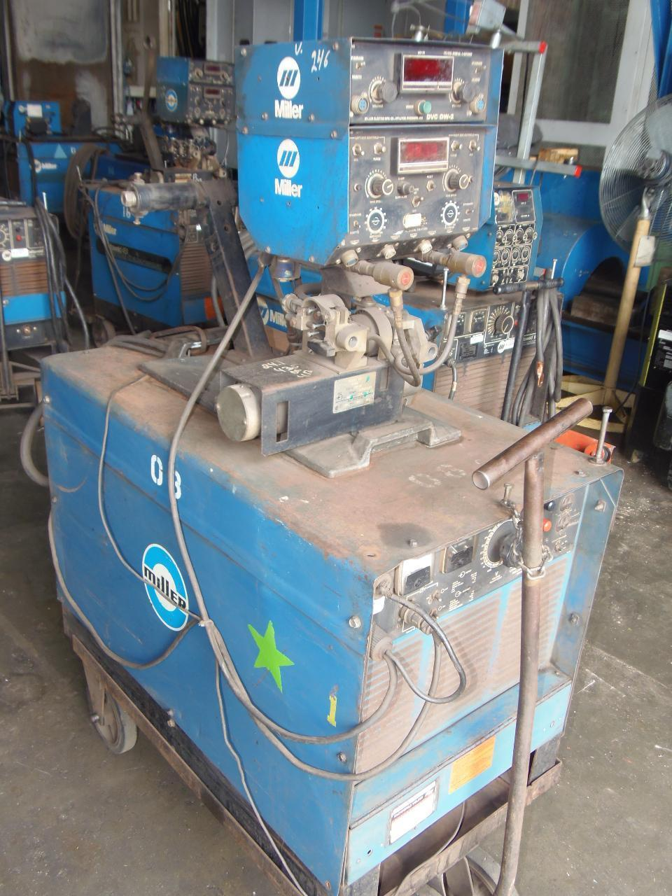 Miller 650 Amp Wire Feed Welder, Model Deltaweld 650 with D52D Wire feeder