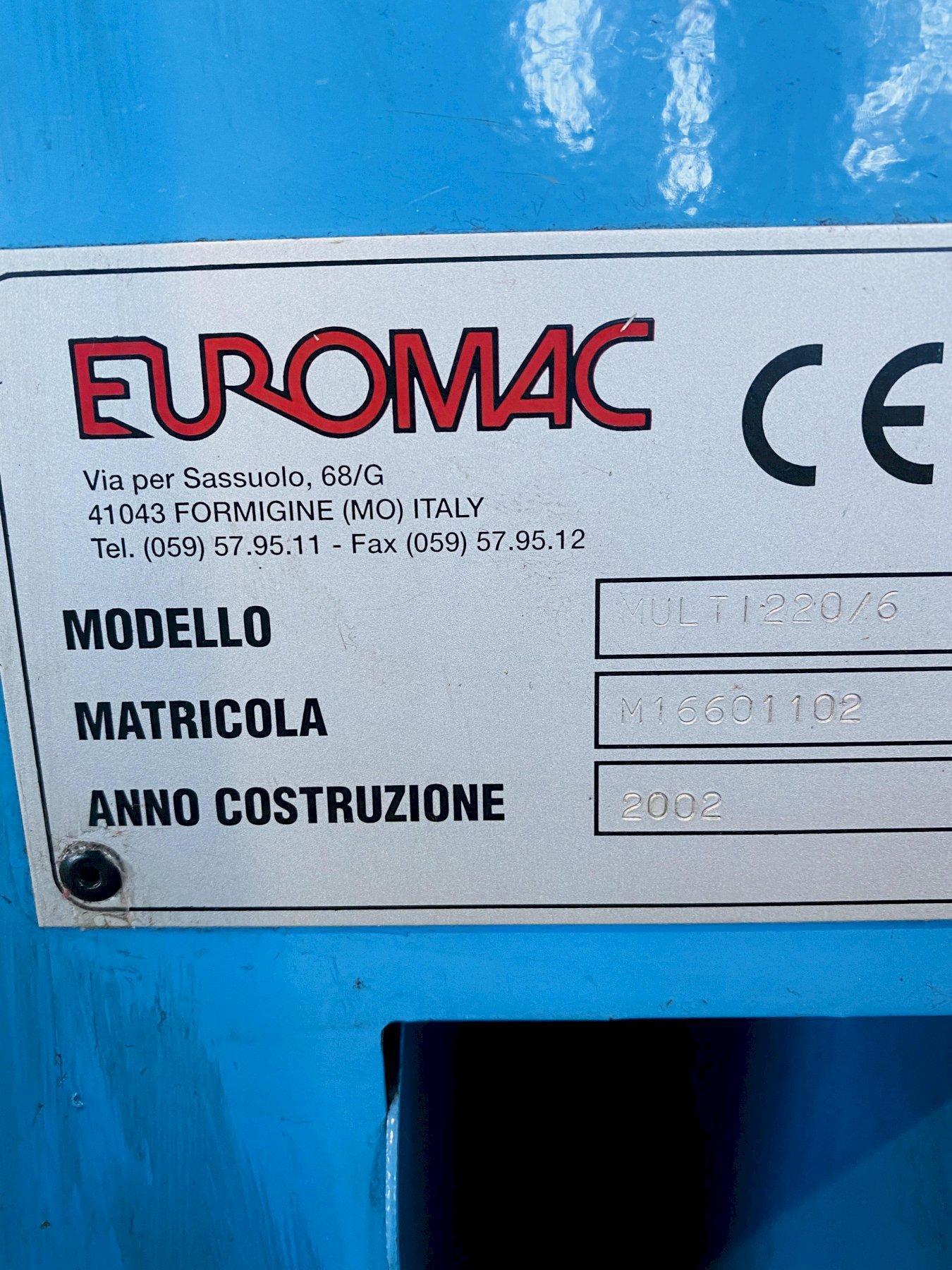 "7.87"" X 7.87"" X 1/4"" EUROMAC MULTI 220/6R HYDRAULIC NOTCHER. STOCK # 0612020"