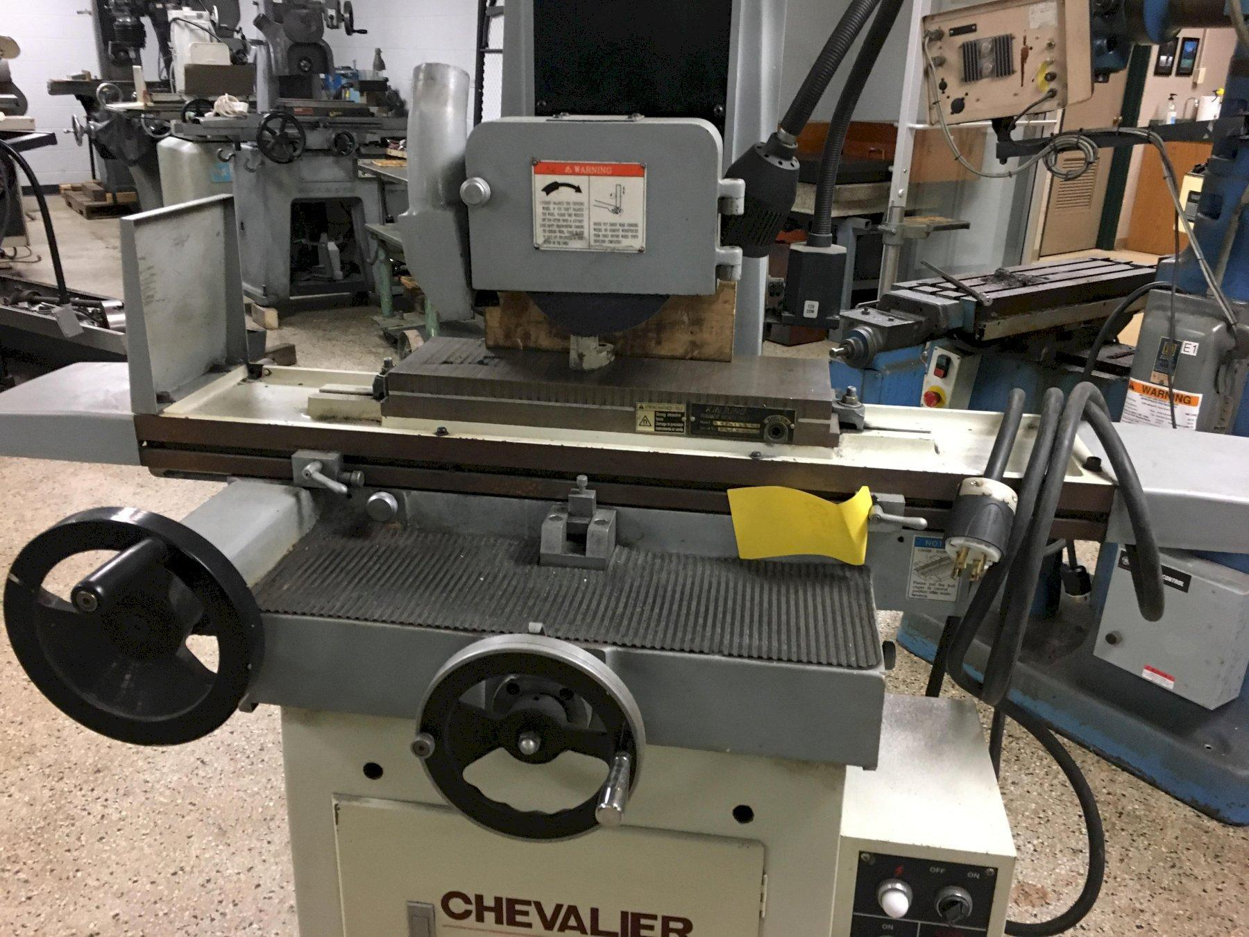 Chevalier Model FSG-618M Hand Feed Ball Roller Table Manual Surface Grinder, S/N A395C007, New 2006.