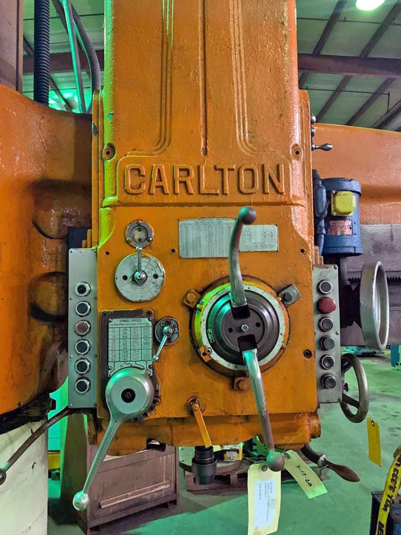 "USED, 6' 19"" CARLTON RADIAL ARM DRILL"