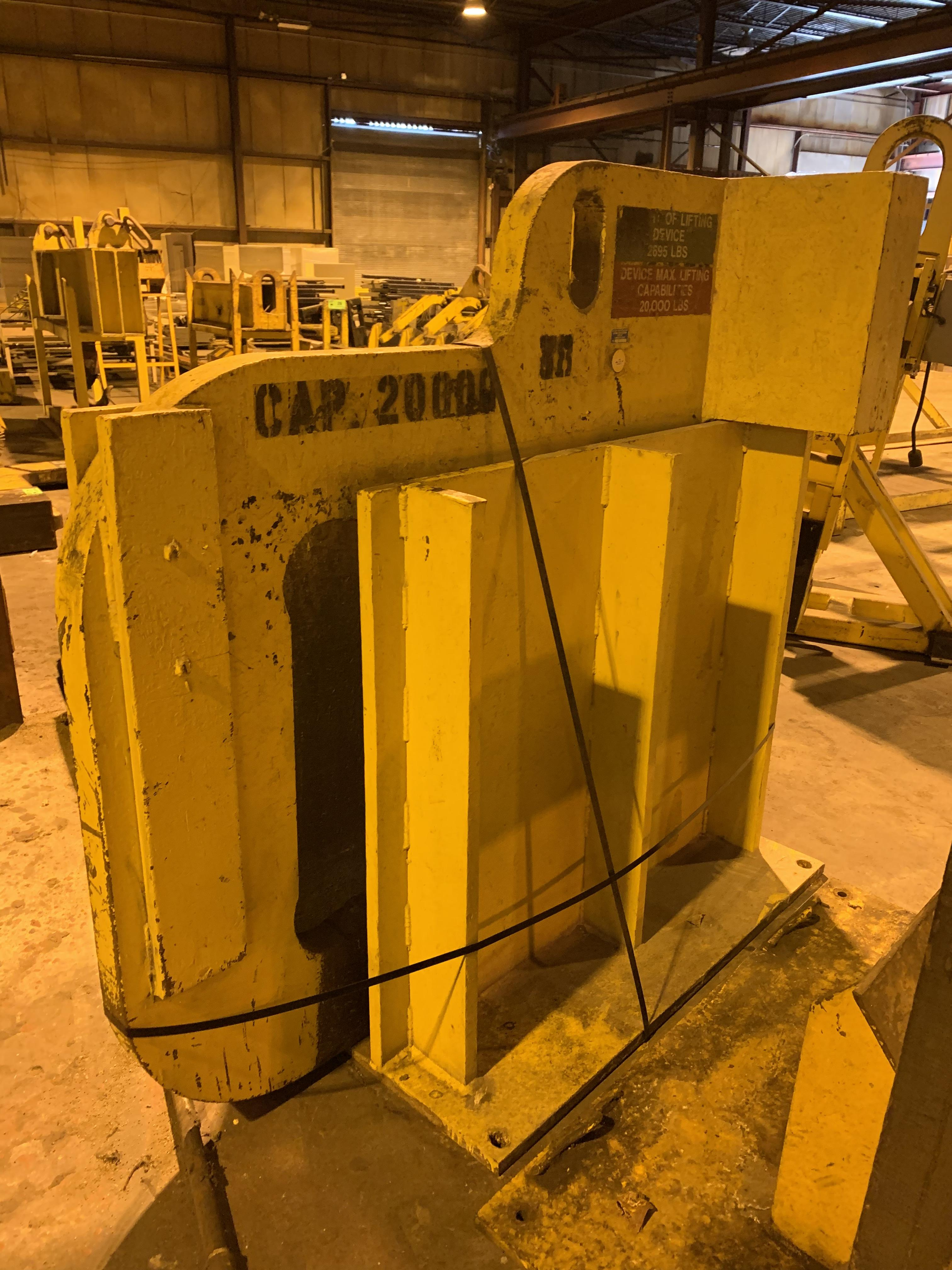 "20,000 LBS X 52"" COIL LIFTING ""C"" HOOK WITH STAND: STOCK #10600"