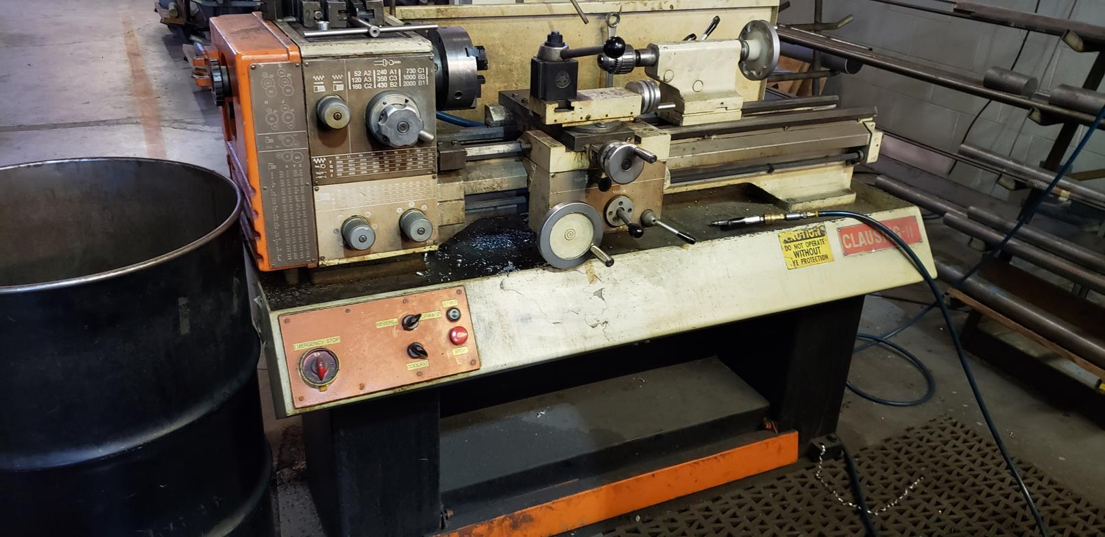 "11"" x 26"" CLAUSING 11 ENGINE LATHE. STOCK # 0954220"