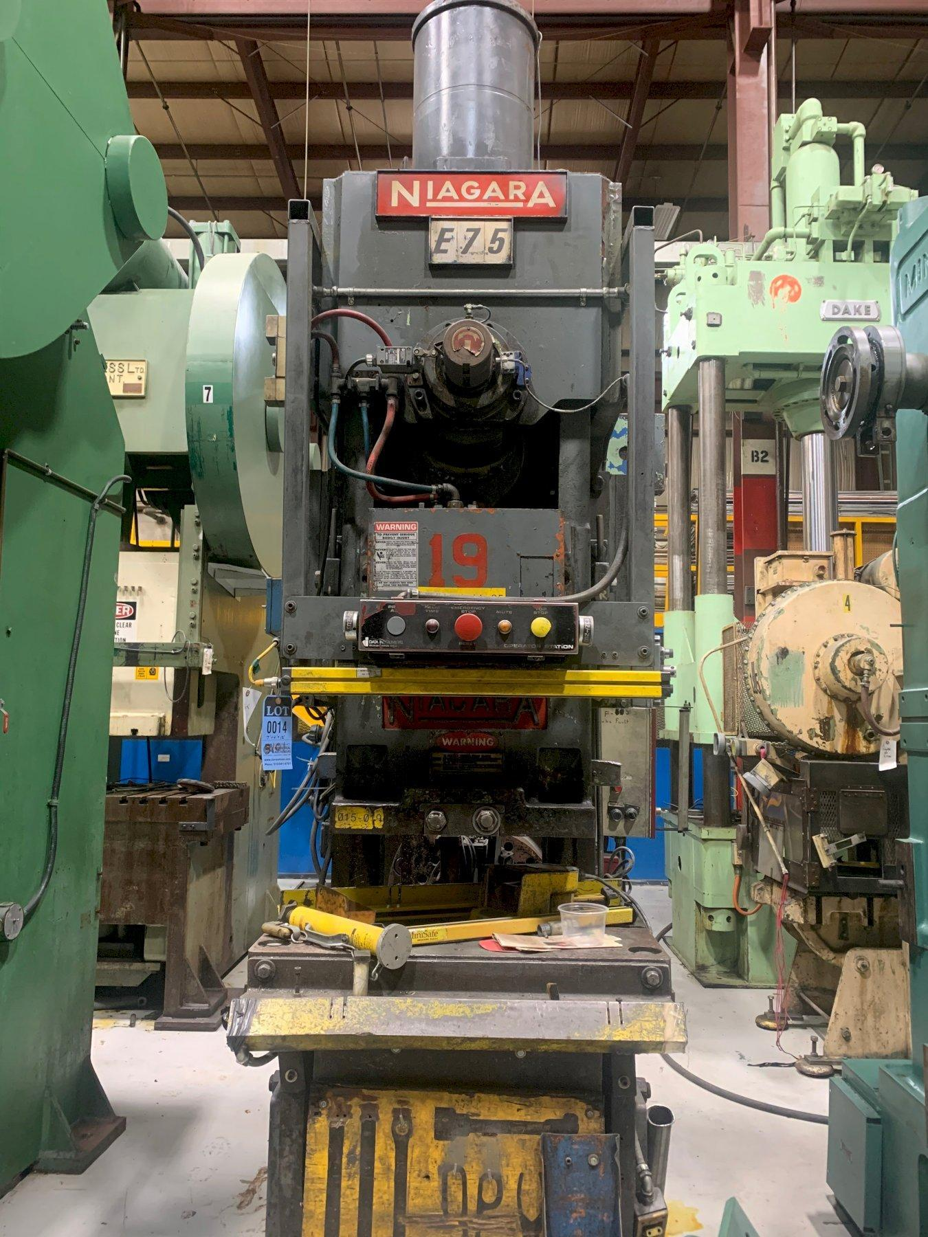 75 Ton NIAGARA E75, C-Frame Press