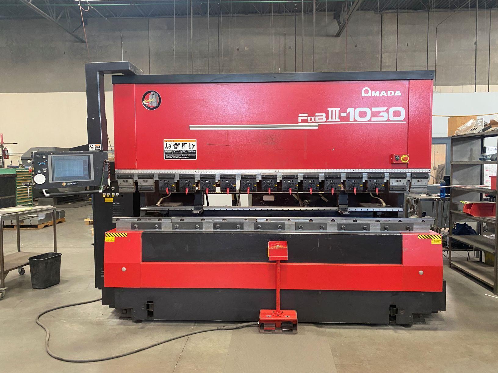 Amada FBD1030NT 110 TONS X 10',  8 -AXIS AMADA NT-CNC CONTROLS