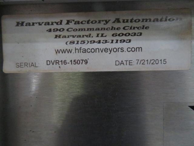 "HFA Under-Press Part Diverter, 16"" x 16"", 24 VDC, Yr. 2015"