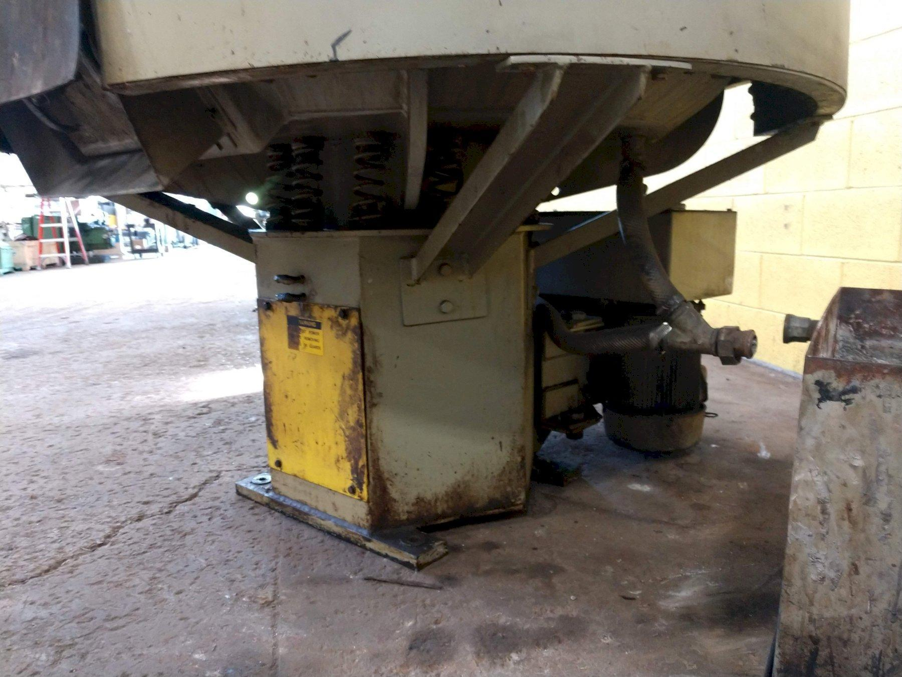 9 CU FT ALMCO MODEL OR-10VHE ROTARY VIBRATORY FINISHER