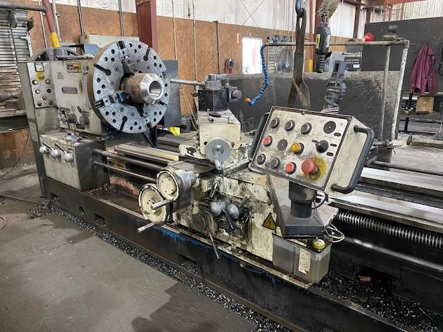 "USED, 36"" X 120"" POREBA HOLLOW SPINDLE LATHE WITH 12.5"" SPINDLE BORE"