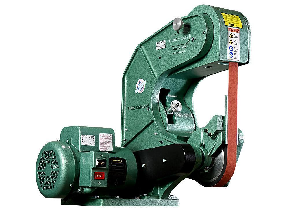 "1-1/2"" BURR KING Belt Grinder  No. 760, 8000 FPM, 1.5 HP, 1 Phase, New, In Stock"