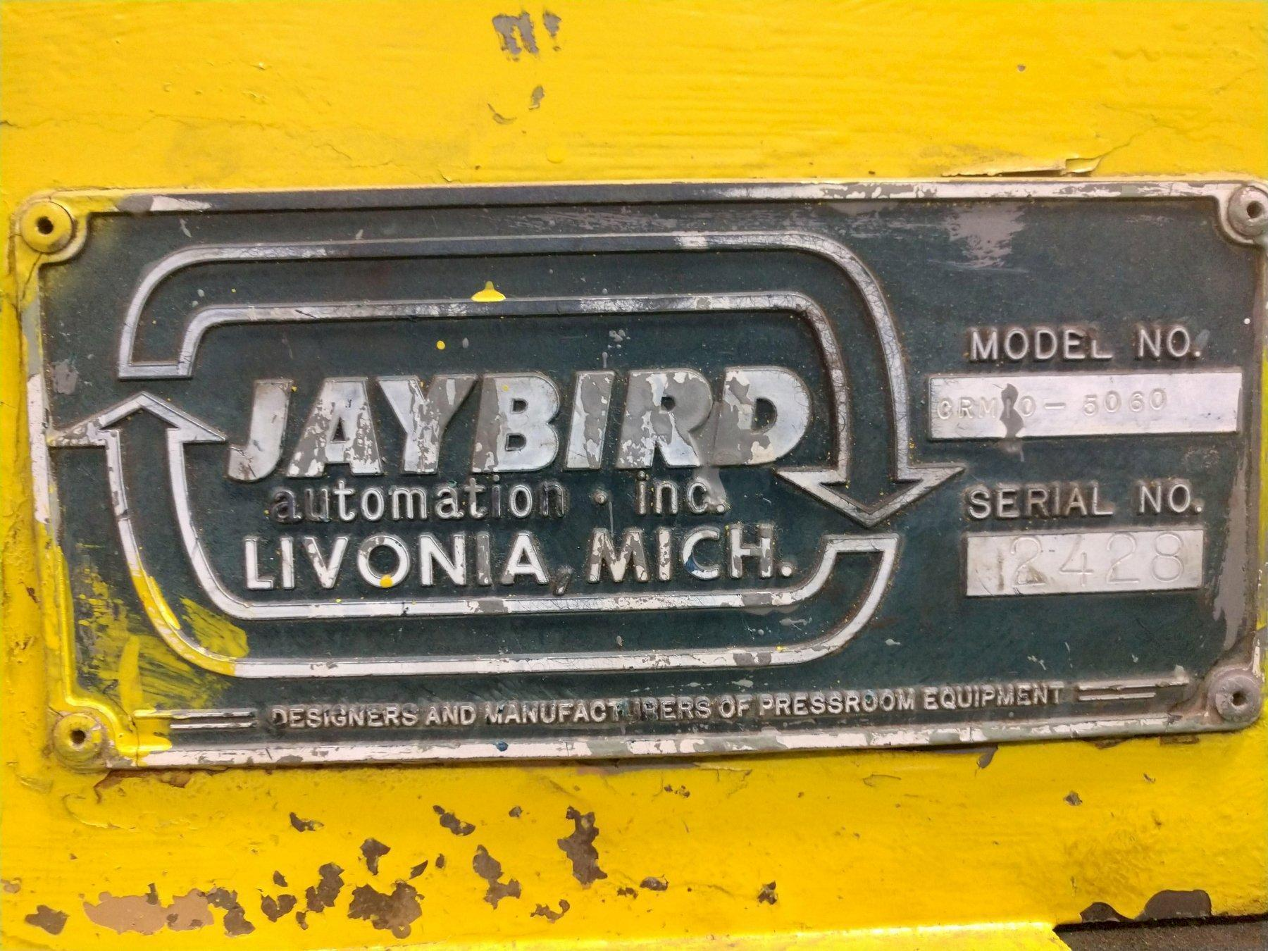 "10,000 LB x 50"" JAYBIRD MODEL #CRM10-5060 MOTORIZED COIL REEL UNCOILER. STOCK # 0207221"