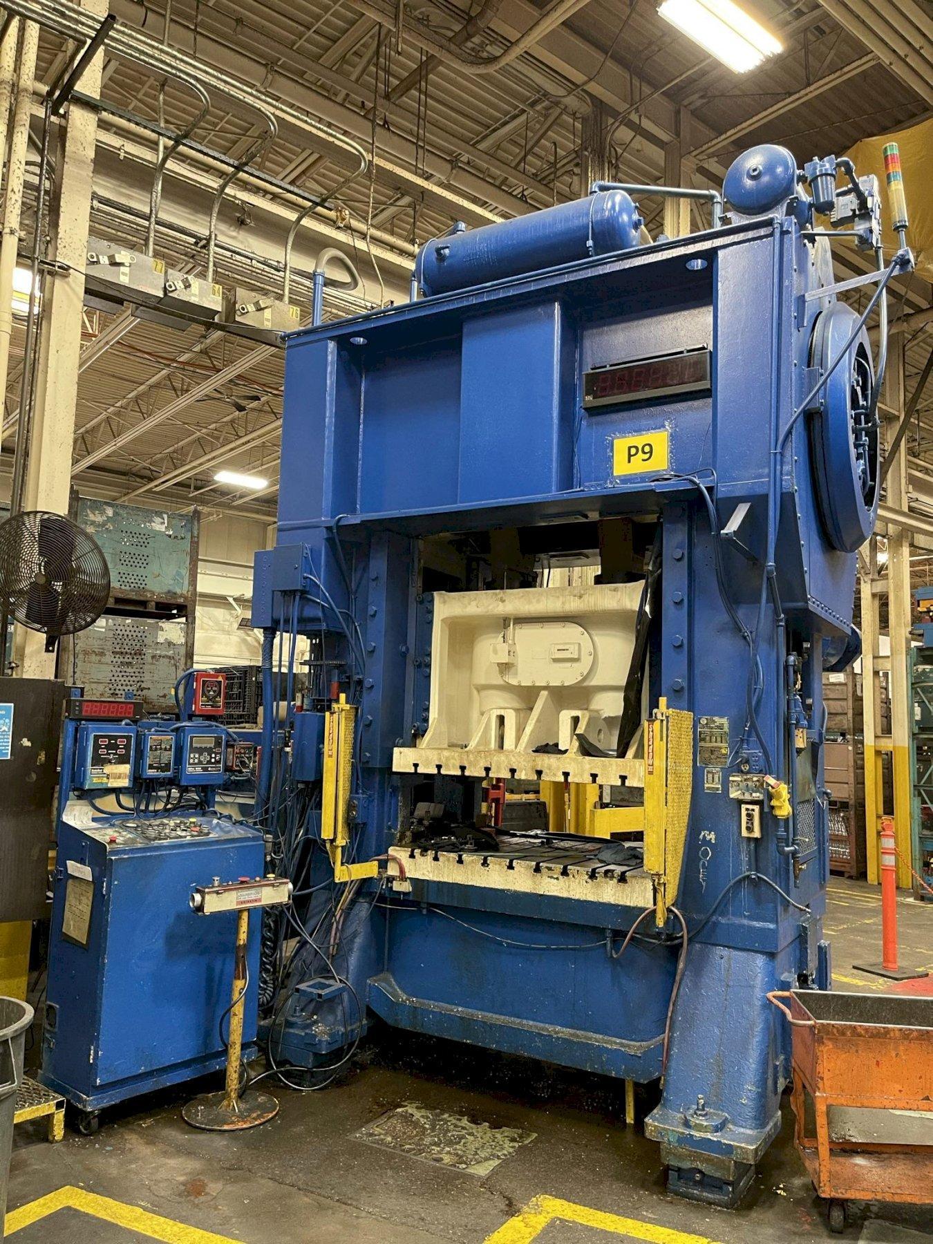 400 ton Minster E2-400-60-48 Hevi-Stamper Straight Side Press
