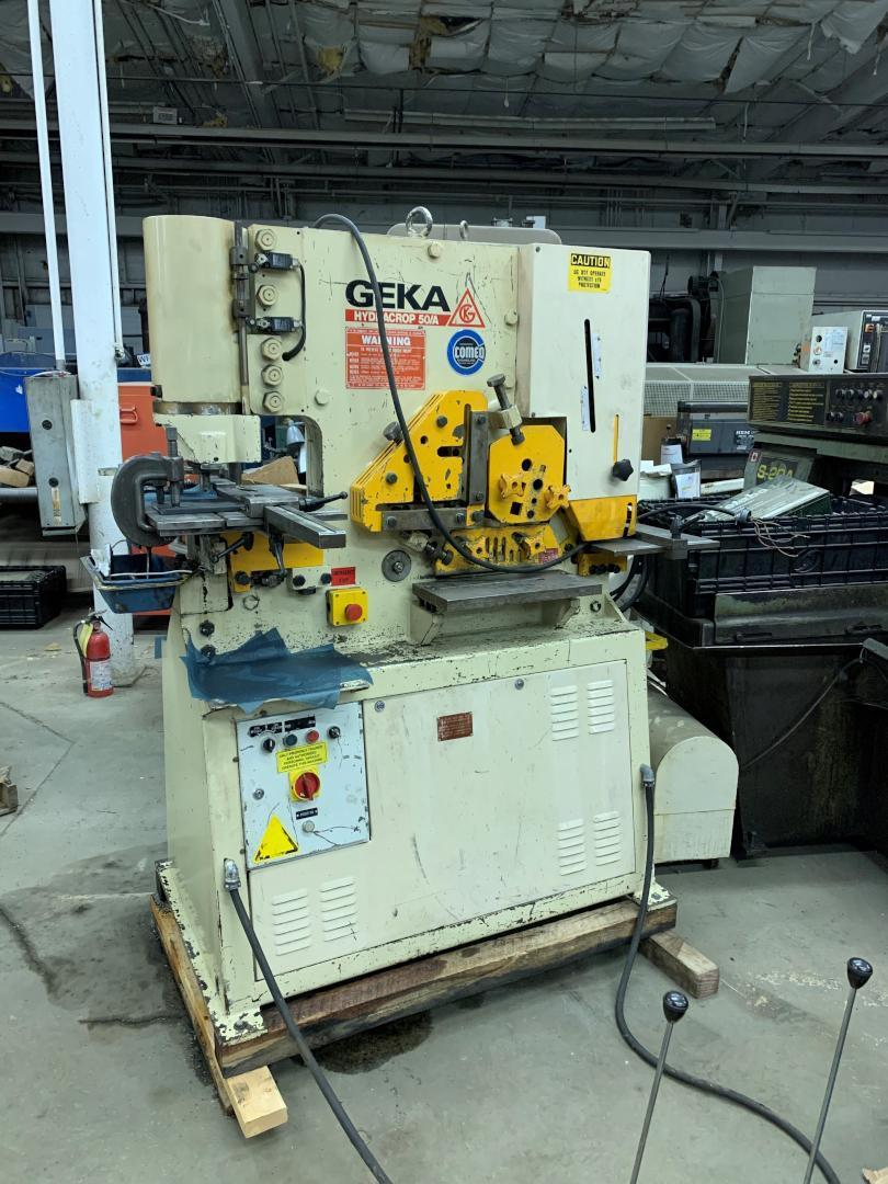 1 - PREOWNED GEKA IRONWORKER, MODEL #: HYDRACORP 50/A