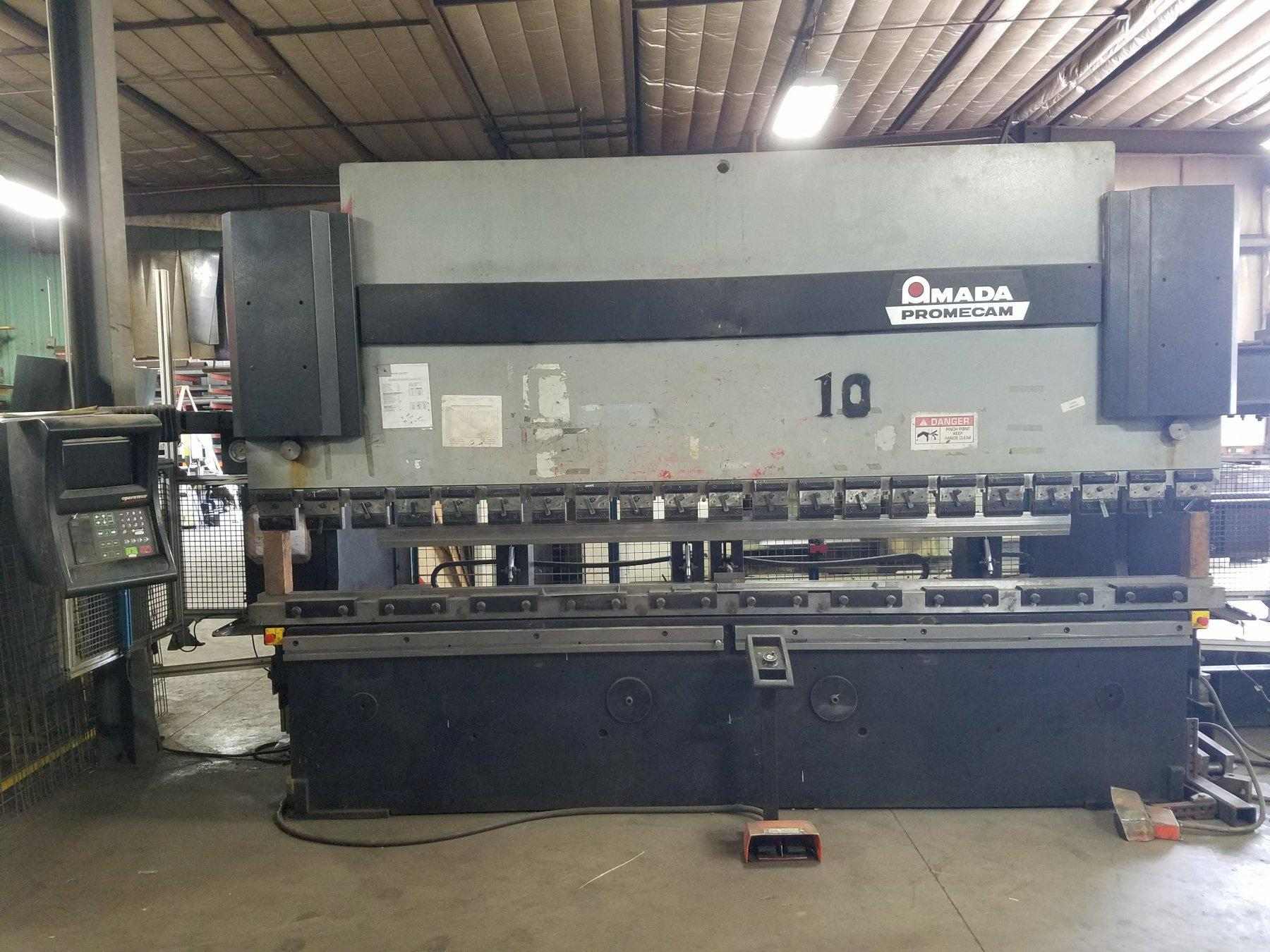 "187 TON AMADA HFB 170-40, 167""/148"" LENGTH, OPERATOR 8 AXIS CONTROL, 6 AXIS BACK GAUGE, 4 WORK STOPPERS, 1995"
