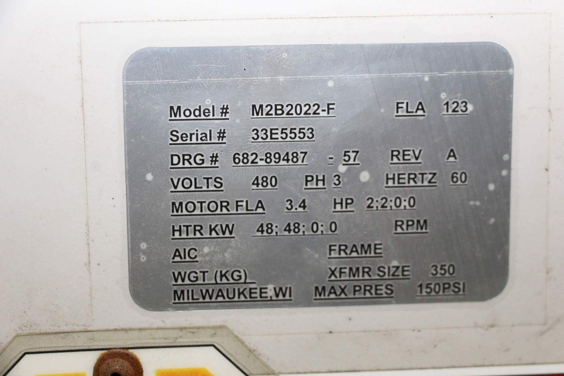 STERLCO MODEL M2B2022-F CONTROL UNIT: STOCK #