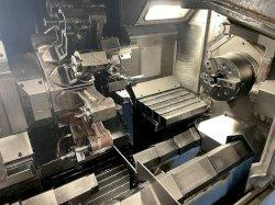 Mazak Multiplex 630 (5) Axis CNC Twin Spindle Lathe, Mazatrol T-Plus, Live Tooling, (2)10
