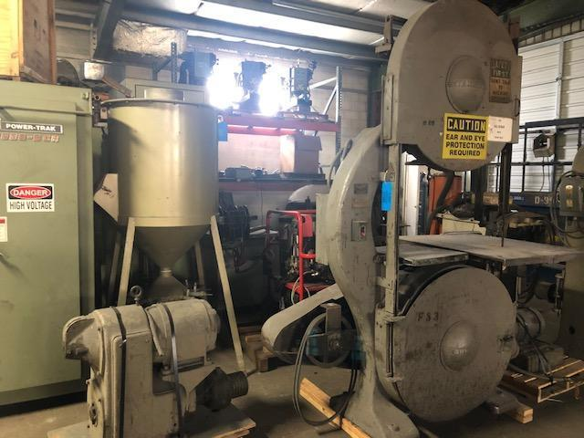 """TANNEWITZ MODEL G1E 36"""" VERTICAL BAND SAW S/N 15060 WITH MOTOR AND DRIVE"""