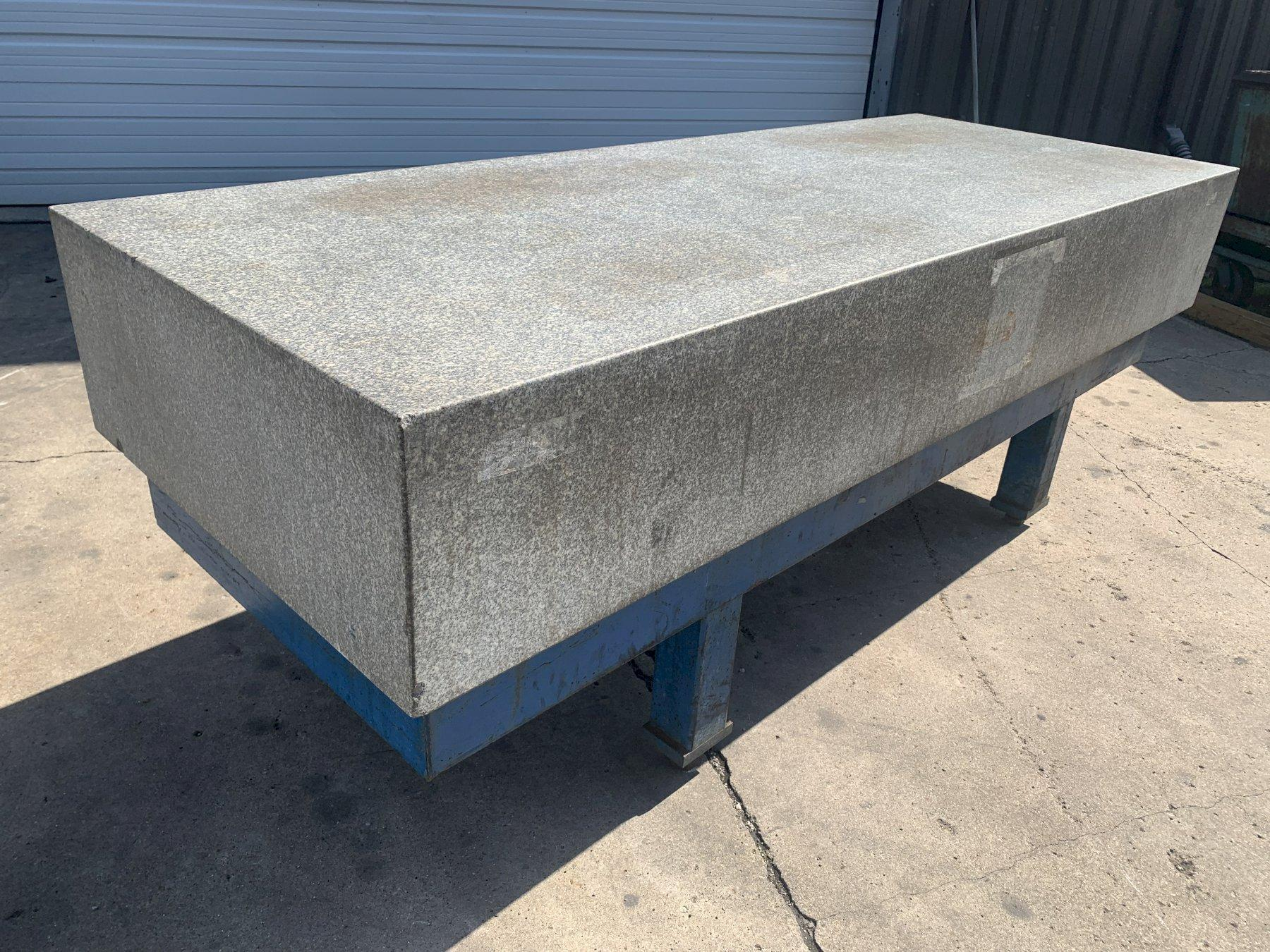 """36"""" X 96"""" X 14"""" GRANITE SURFACE PLATE WITH STEEL STAND: STOCK #11186"""