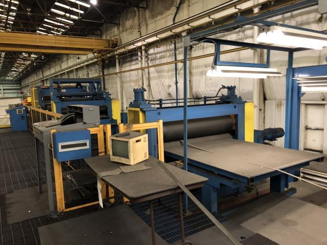 """62"""" x .165"""" x 80,000# Herr Voss / Hill Acme Coil To Coil Stainless Steel Grinding & Polishing Line"""