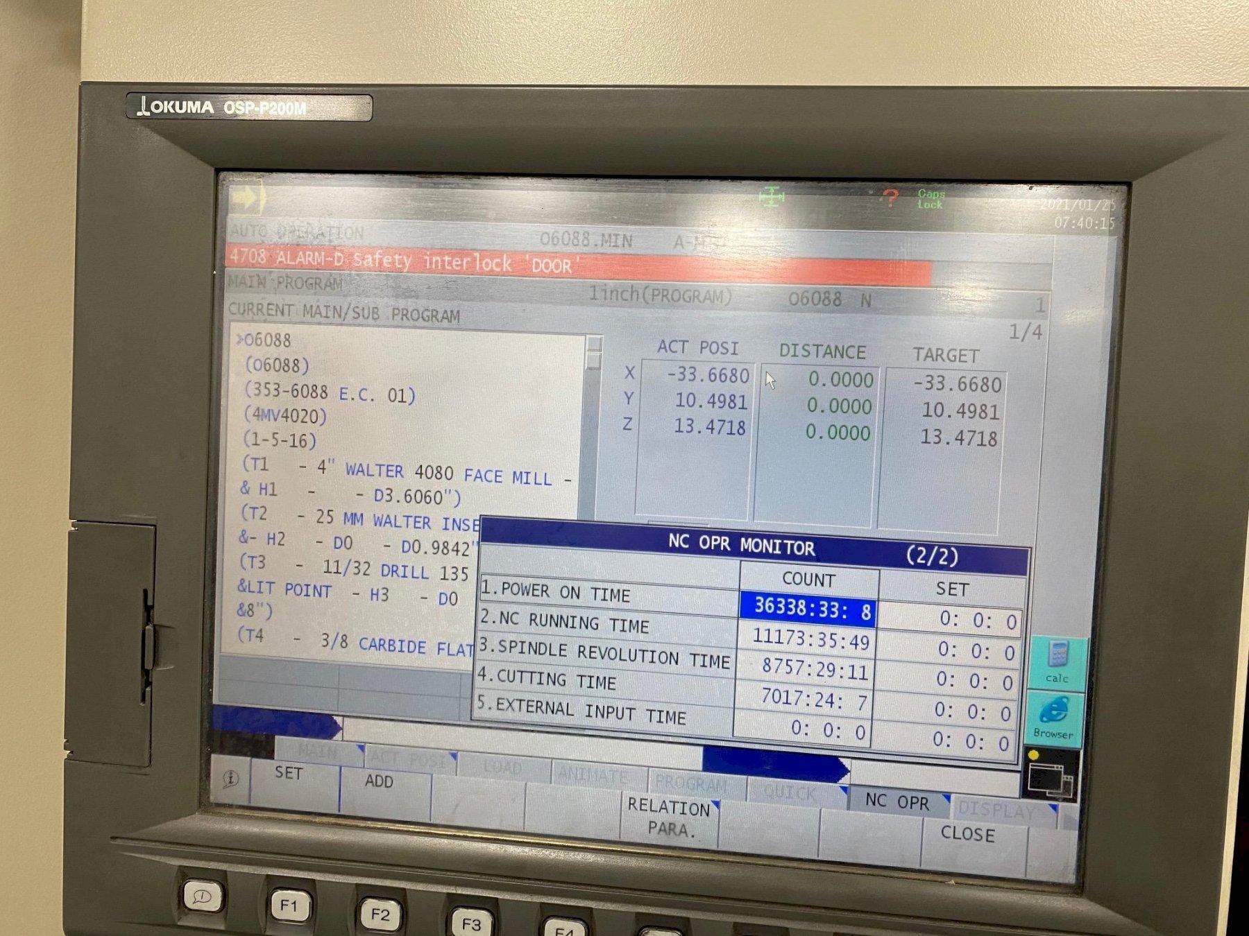 Okuma MC-V4020 CNC Vertical Machining Center