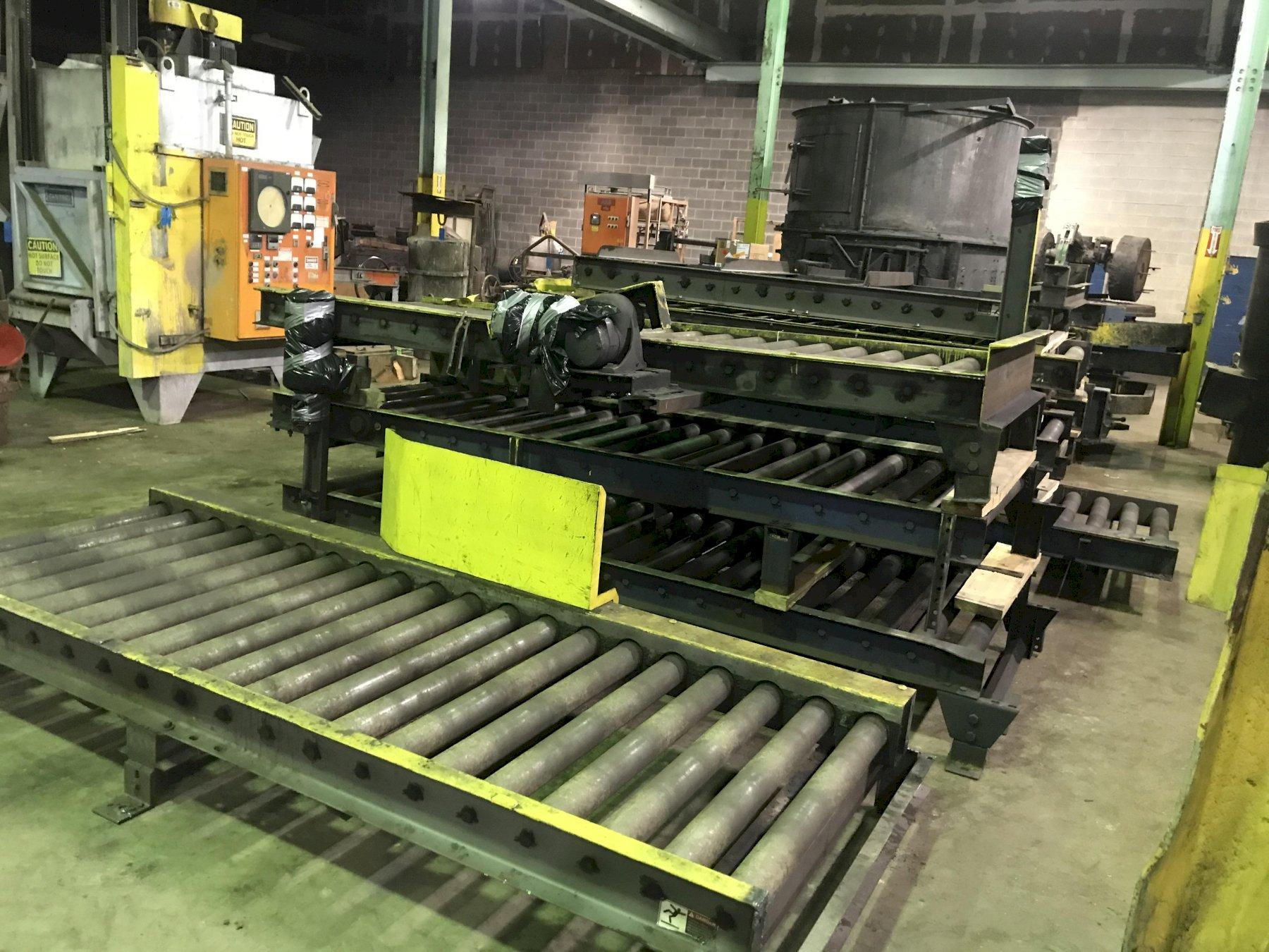 """122'- 39"""" powered roller conveyor with drives, 3"""" diameter rollers on 6"""" centers, 4- drives"""