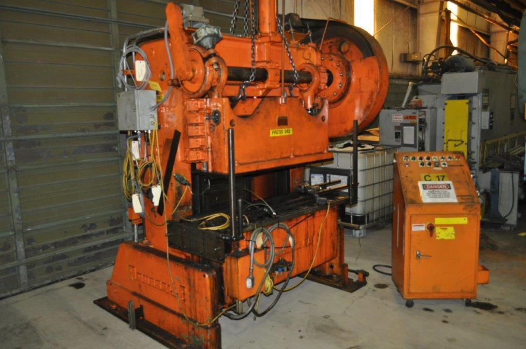 60 Ton Rousselle Double Crank Gap Frame Press