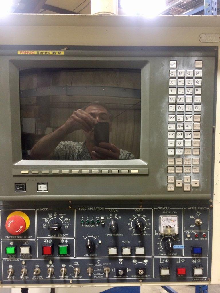 "DAEWOO DMV-650 5-AXIS CNC VERTICAL MACHINING CENTER, Fanuc 18MC CNC Control w/ CRT, 15"" Troyke 4th and 5th Axis Rotary Table, 25 HP, CAT 50, 6000 RPM, 40 ATC,   X=49.6"", Y=25.6"", Z=25.6"",  New 1999."