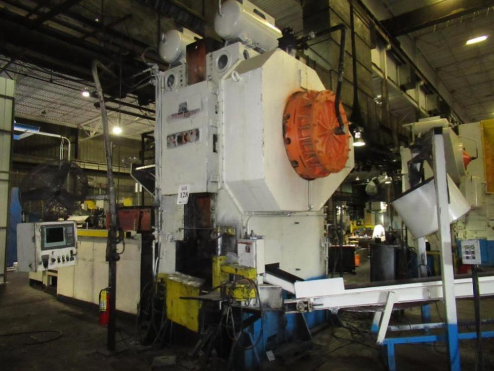 1300 Ton Manzoni Forging Press w/ AJAX Tocco Inuduction Heating System