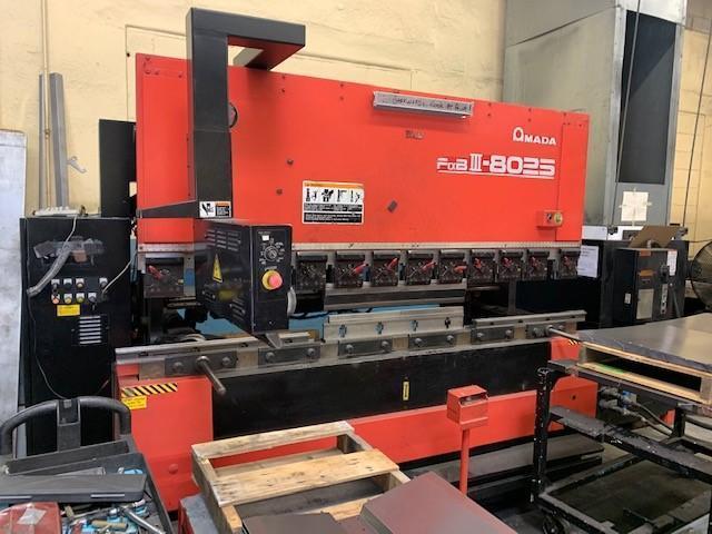80 TON AMADA No FBD 8025NT CNC PRESS BRAKE   Our stock number: 114565