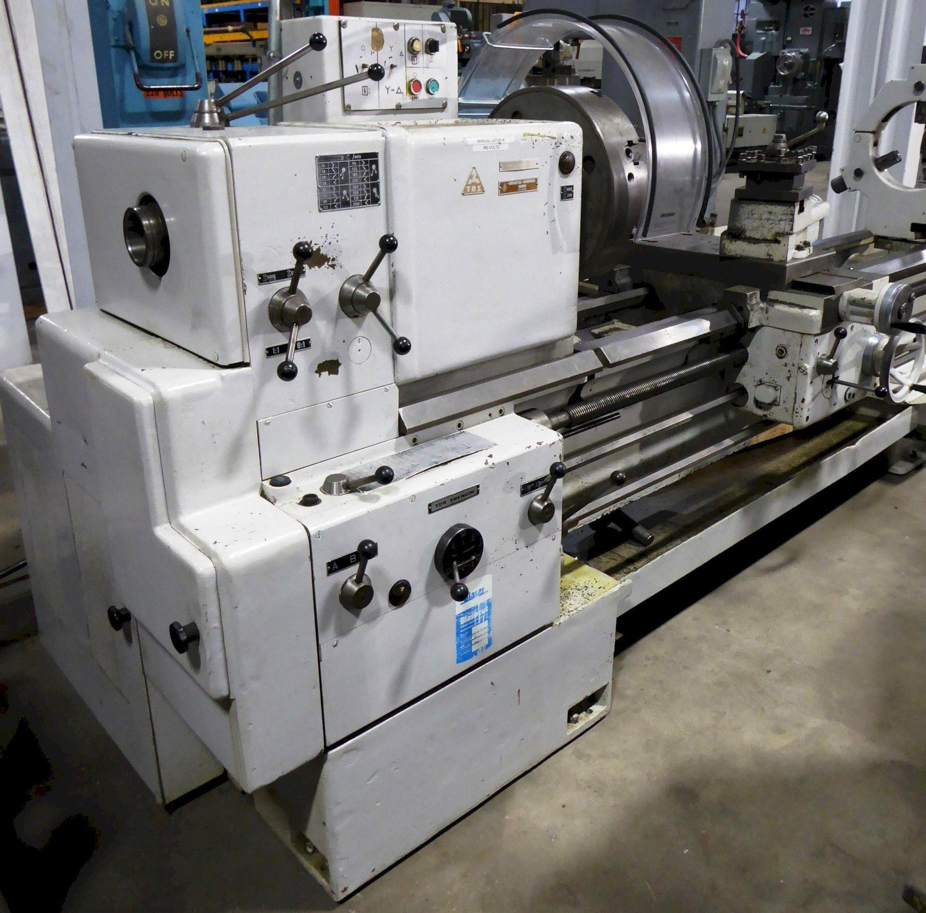 "28""/37"" x 120"" TOS Gap Bed Lathe, 10-1000 RPM, 3"" Hole, Inch/mm, Clean, Low Price"
