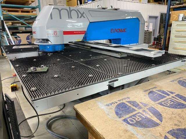 USED EUROMAC MODEL MBX 6 1250/30/2250 6-STATION 33 TON TURRET PUNCH, Stk# 10854, Year 2015