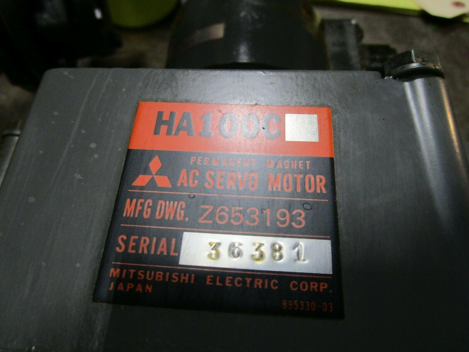 Mitsubishi Axis Motor Servo Motor HA100C Z653193