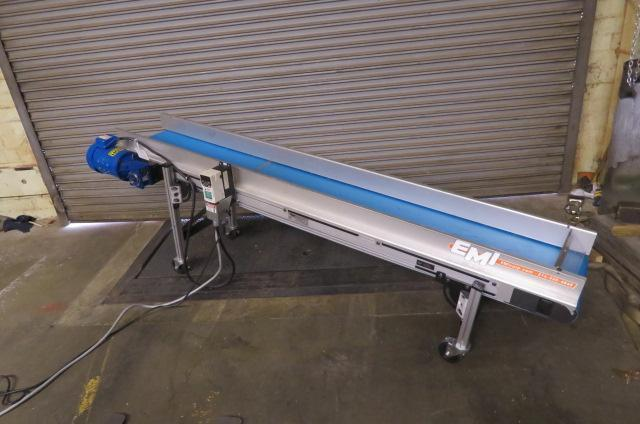 "EMI Used Horizontal Conveyor, Variable Speed, 230V  12"" wide x 96"" long,"