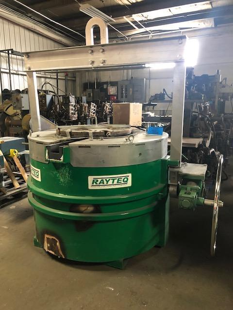 RAYTEQ MODEL DT500 500# PER HOUR MELT RATE ELECTRIC LADLE WITH POWER SUPPLY S/N 477, 1500# CAPACITY, new crucible installed