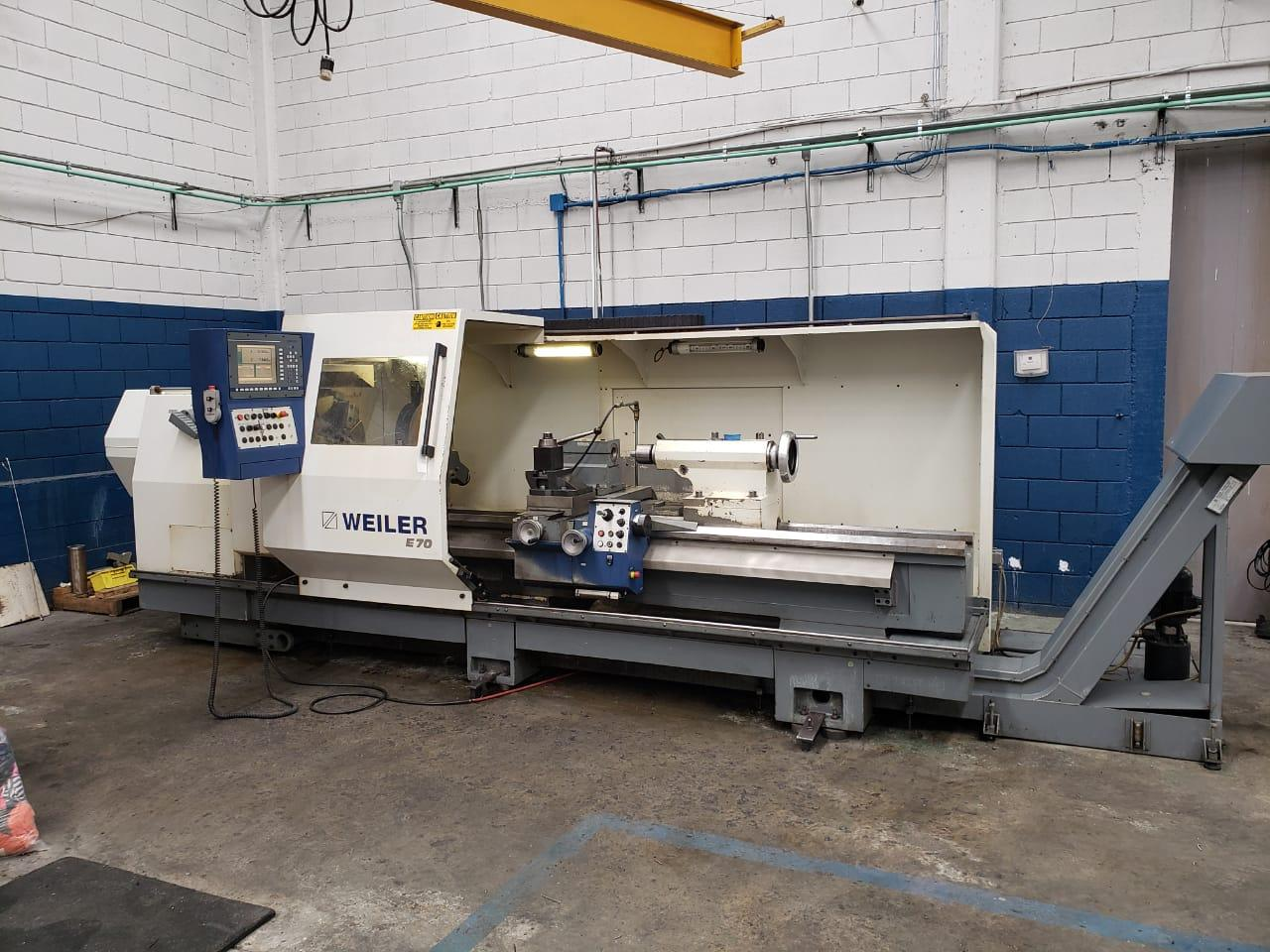 2011  Weiler E70x3000 Hollow Spindle Flat Bed CNC Lathe