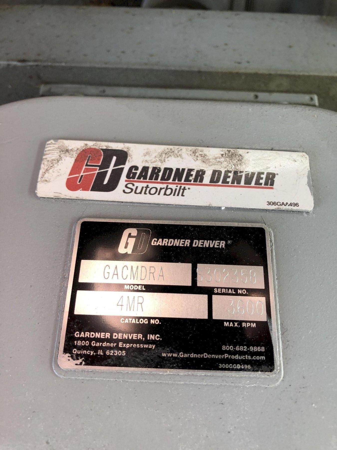 2009 Gardner Denver Sutorbilt model gacmdra blower s/n s302358 with 20 hp motor