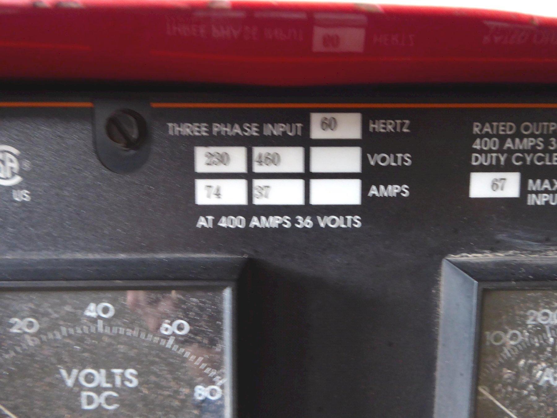 500 Amp Lincoln Stick Welder, Idealarc R3R-400, 230/460/60/3, Nice