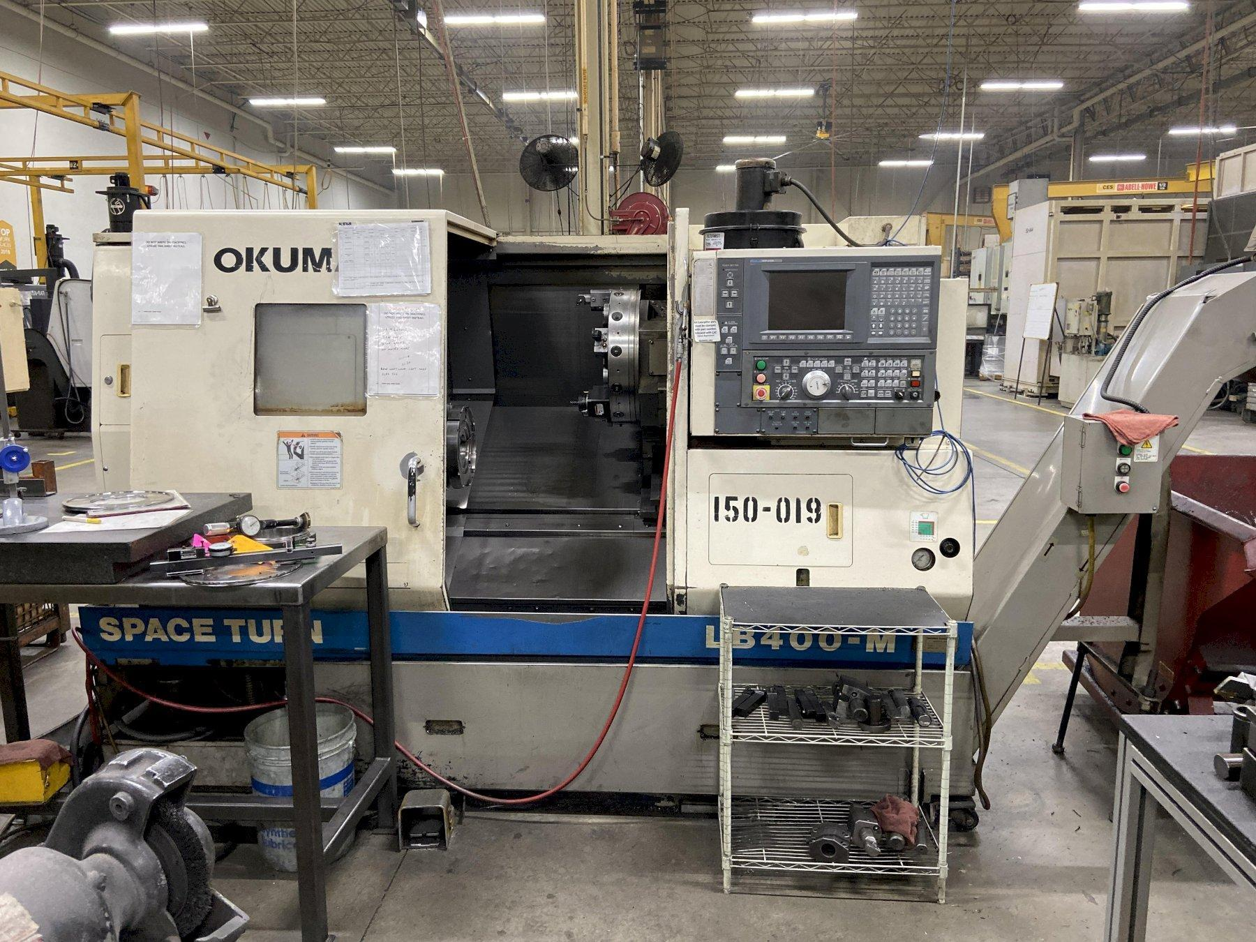 Okuma LB400M CNC Lathe w/Milling, U100L Control, 12