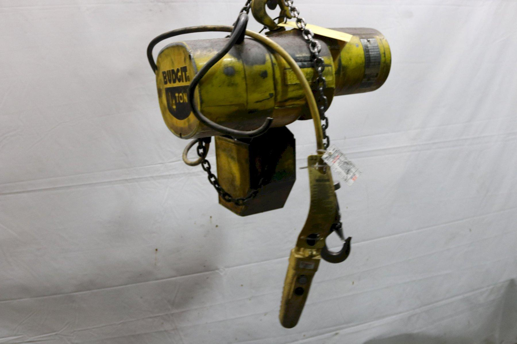 1/4 TON BUDGIT ELECTRIC POWERED CHAIN HOIST: STOCK #11988
